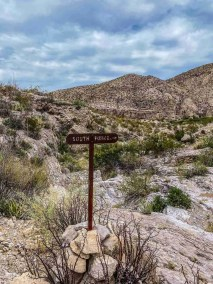 sign Marufa Vega Trail in Big Bend National Park