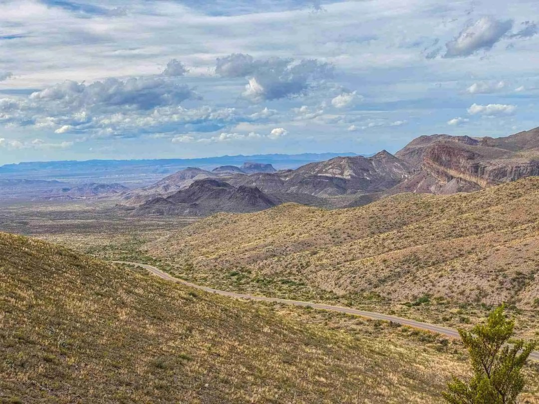 Big Bend National Park Road into the Chisos Mountains