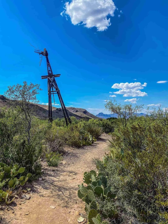 Old windmill at Sam Nail Ranch