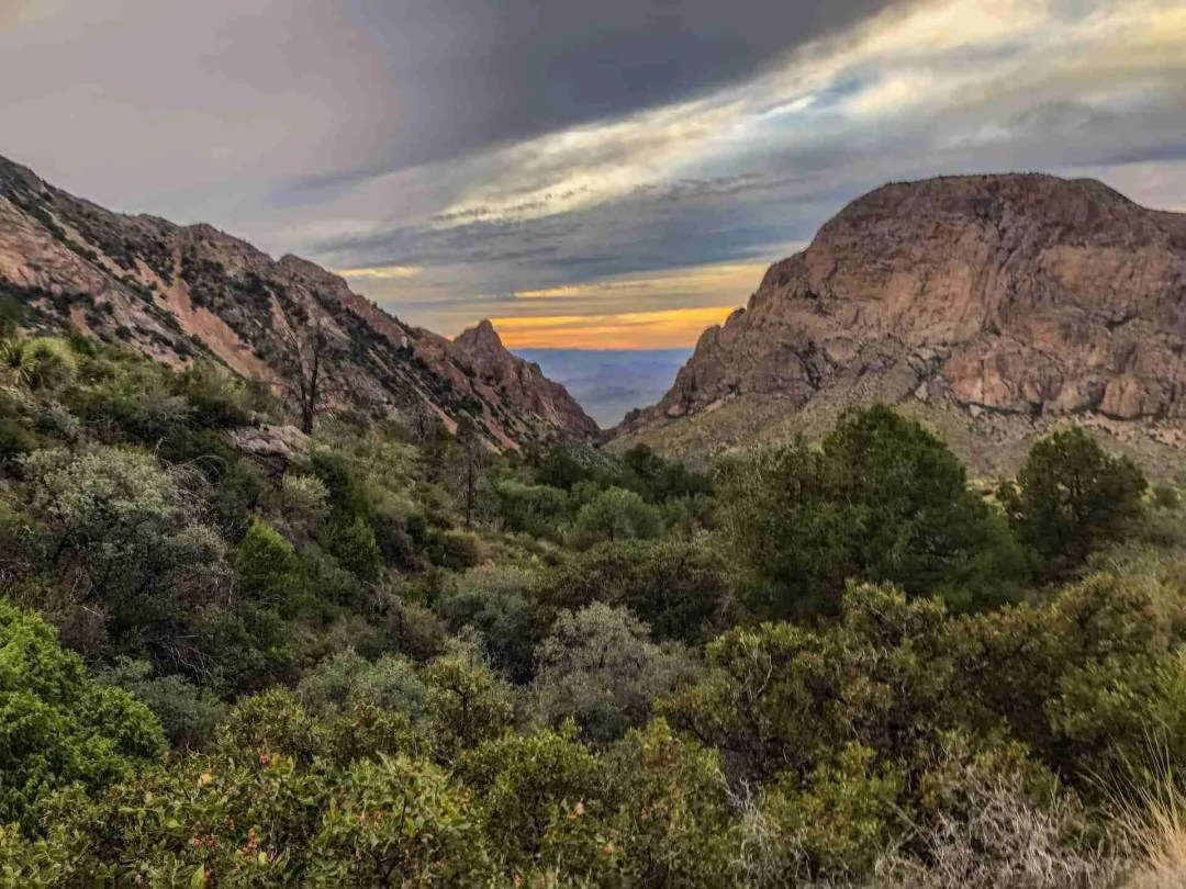 The Window View in Big Bend National Park at sunset