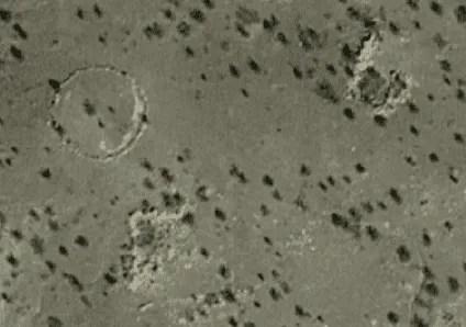 mystery rock circle in terlingua abajo