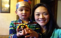 Big Brother 2013 Spoilers - Helen Kim with son