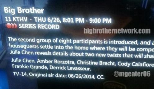 Big Brother 2014 Spoilers - Premiere Move-In