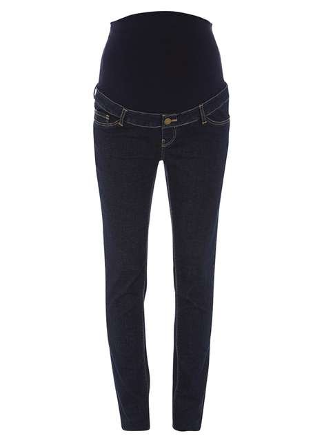 Dorothy Perkins Maternity Indigo Authentic Over The Bump Jeans
