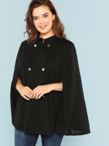 Shein Cape Coat. Plus size maternity clothes