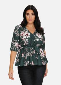 Green Floral Empire Line Tunic - from Pink Clove