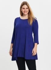 Blue Round Neck Swing Tunic