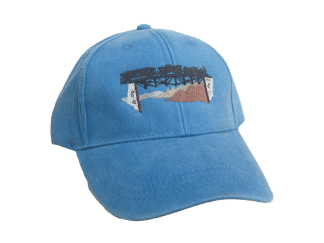 Train on Trestle Embroidered Cap