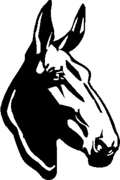 Mule Head Decal