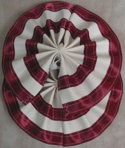 Tail Bow Burgundy & White