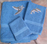 Sample Dolphin Towel Set