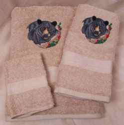 Black Bear Towel Set