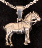 Percheron draft horse pendent