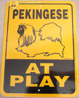 Pekingese At Play Sign