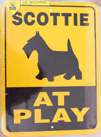 Scottie At Play Sign