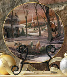 Homeward Bound Holiday Plate - Terry Redlin