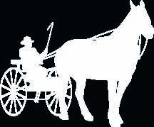 Horse and Cart Decal