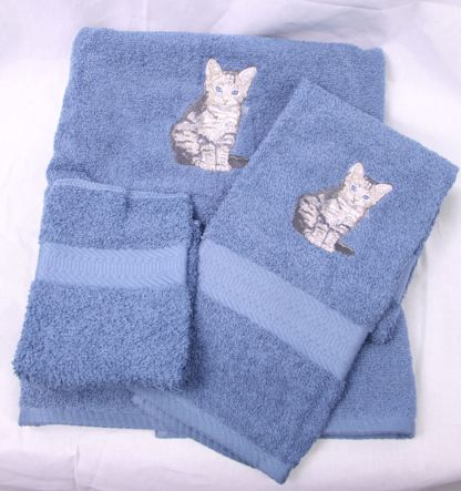 Tiger Stripe Cat Towel Set