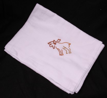 Moose Outline Flour Sack Dish Towel