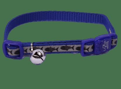 Royal Blue Fish Cat Collar