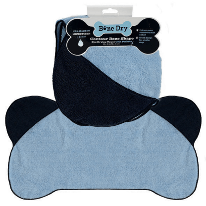 Bone Shaped Towel - Blue
