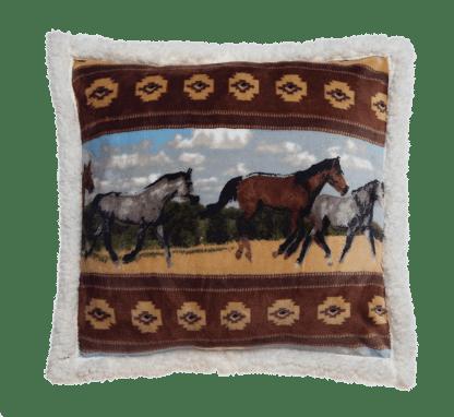 Horses Decorative Pillow