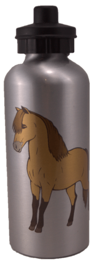 Miniature Horse Water Bottle Silver