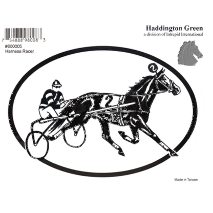 Haddington Green Harness Racing Horse Oval Decal