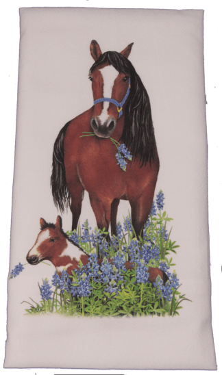 Mare and Foal Dish Towel