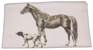 Mary Lake-Thompson Vintage Horse and Hound Flour Sack Dish Towel