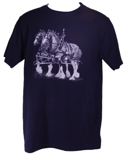 Clydesdale Team Draft Horse T-Shirt