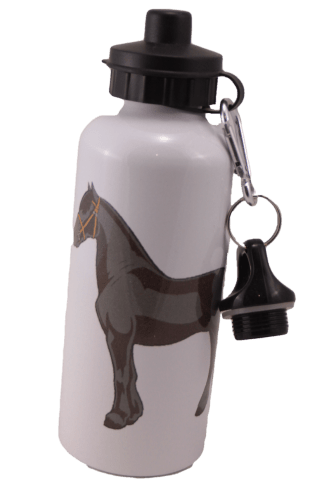 Friesian Horse Aluminum Water Bottle