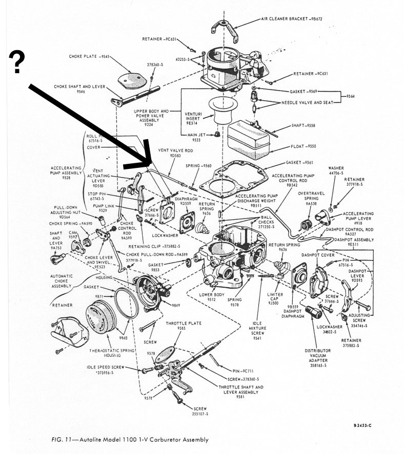 1965 Ford mustang carburetor diagram