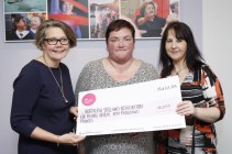 She was 'over the moon' to be told they had won £10,000 and she attended the awards ceremony with Niamh staff to receive the cheque from Big Lottery Fund NI Director Joanne McDowell.