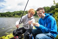 Walter showing Jack how to fish