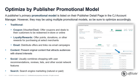 optimize by promotional model