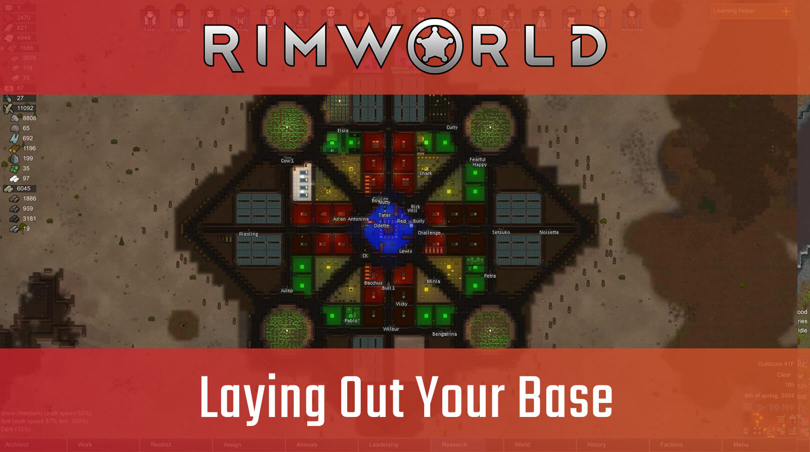 Awesome Laying Out Your Base In Rimworld Big Boss Battle B3 Machost Co Dining Chair Design Ideas Machostcouk