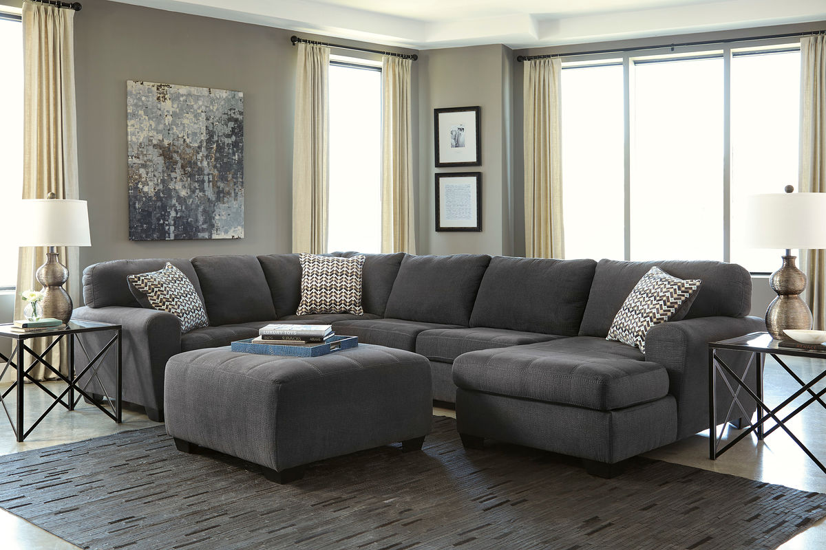 montreal sectional sofa in slate console table behind ideas sofas big boss furniture