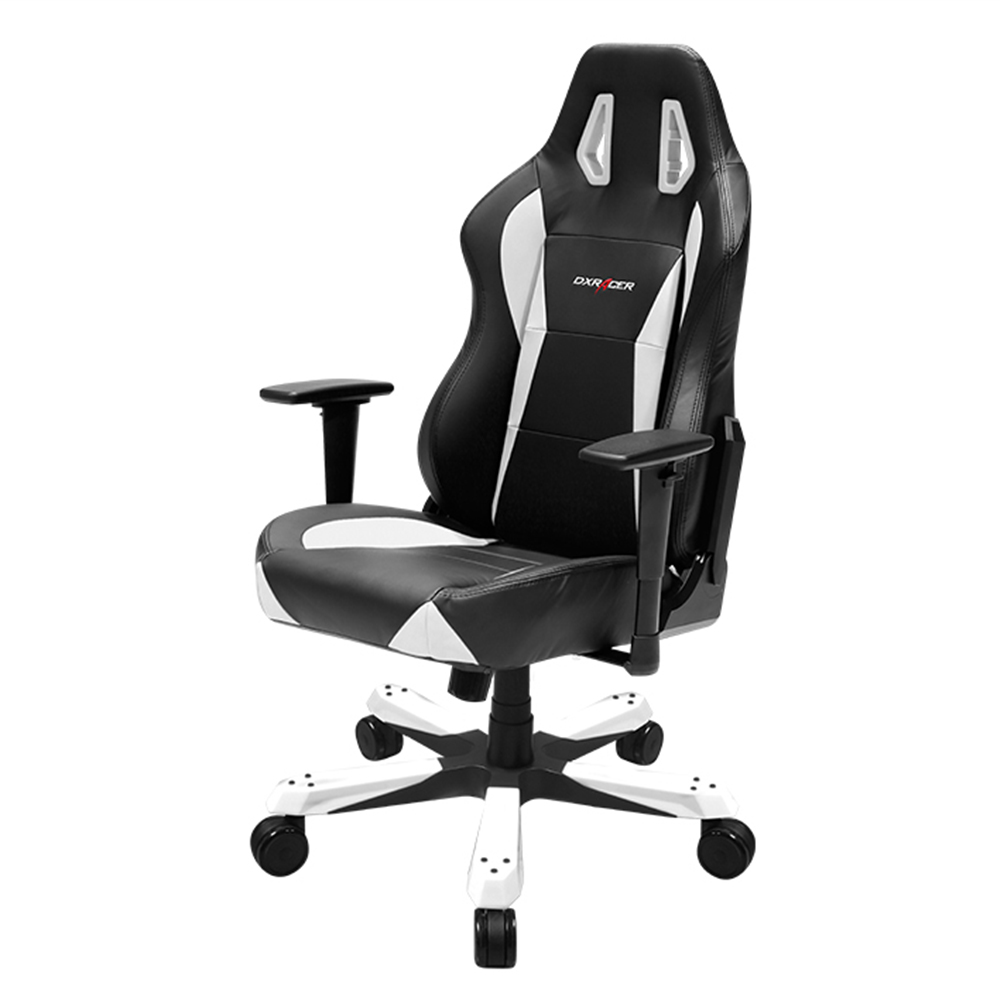 Dxr Chair Dxracer Wx0 Wide Series Gaming Chair W Neck Lumbar Support Black White