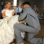 Bride & Groom wearing Chuck Taylor Shoes