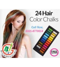 24 Temporary Hair Coloring Chalk