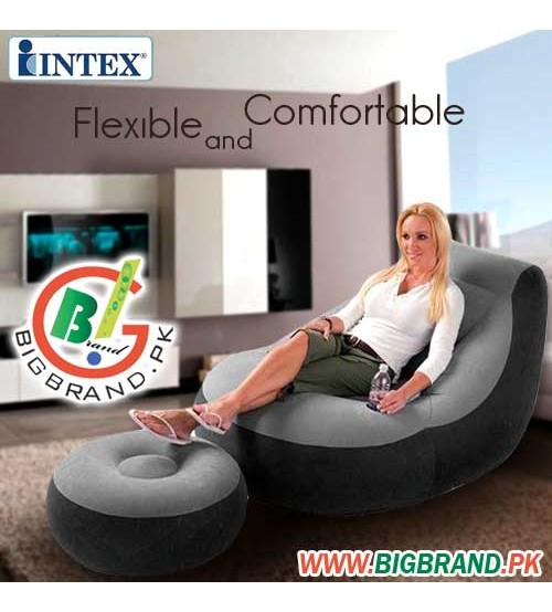 intex ultra lounge chair and ottoman philippe starck ghost black inflatable with