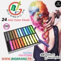 24 Temporary Hair Coloring Chalk