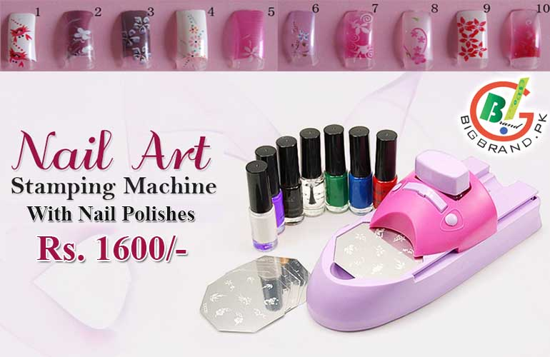 1 X Nail Printing Machine 7 Polishes 6 Metal Pattern Plates Chart User Manual