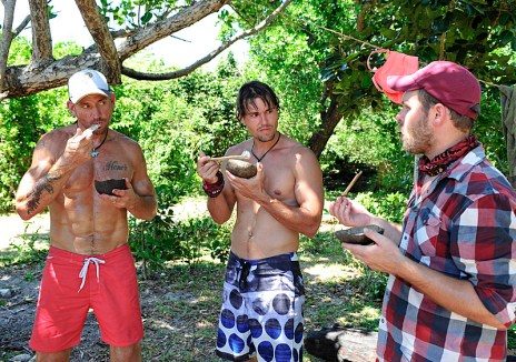 Brad Culpepper, Hayden Moss and Caleb Bankston on Survivor 27 - Source: CBS