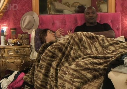 Evander Holyfield and Luisa Zissman on Celebrity Big Brother UK - Source: Channel 5