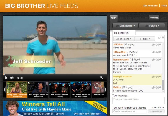 Big Brother Live Feeds Chat