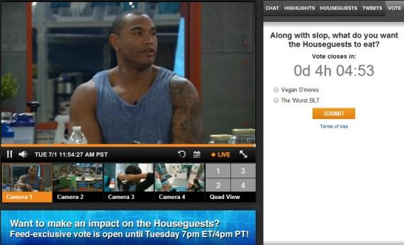 Big Brother Live Feeds Exclusive Vote