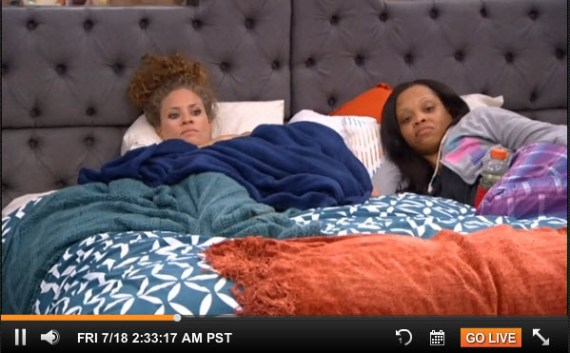 Big Brother 16 Houseguests Amber and Jocasta (CBS)