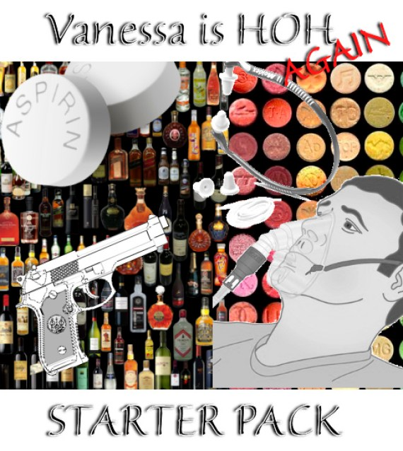 """To help you get through the week, a """"Vanessa is HOH Starter Pack!"""""""